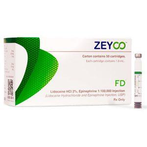 Anestesia dental Lidocaina al 2% FD con Epinefrina de la marca Zeyco. Deposito Dental Dentalmex Online