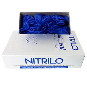 Guante de nitrilo color azul de la marca Uniseal. Deposito Dental Dentalmex Online