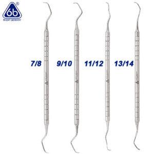 Curetas gracey para profilaxis dental, de la marca 6b invent. Deposito Dentalmex Tienda Online
