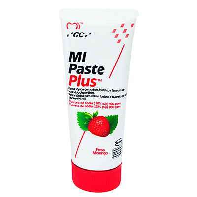 Mi paste plus es una crema dental de la marca GC América. Deposito Dental Dentalmex Tienda Online