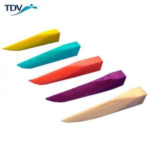 Cuñas de maderas interdentales de la marca TDV. Deposito Dental Dentalmex Online